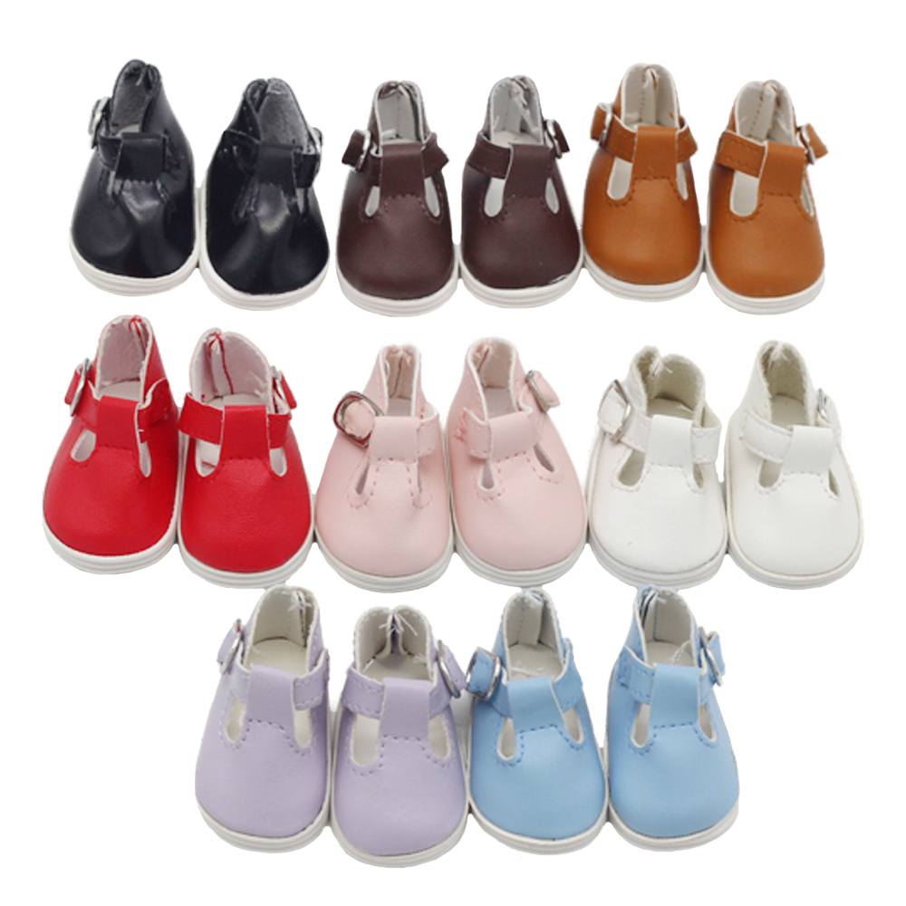 5.5*2.8cm PU Leather Sports Shoes For 1/6 BJD Doll 14.5inch Girl Dolls Fashion Mini Toy Shoes EXO Doll Accessories