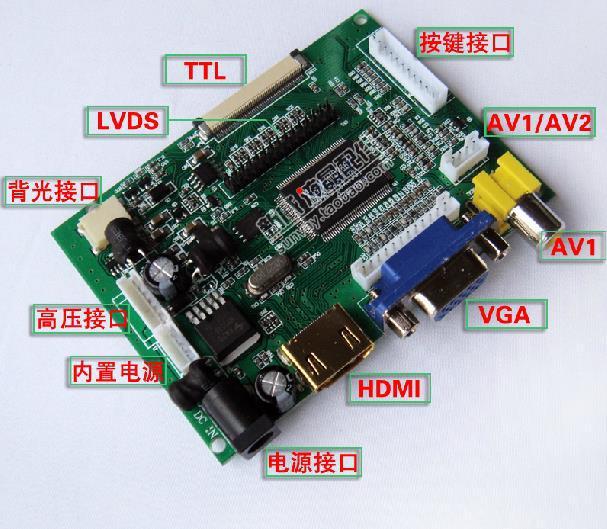 HDMI+DVI+VGA LCD Lvds Controller Converter Driver Monitor Kit for B156XW02 V3