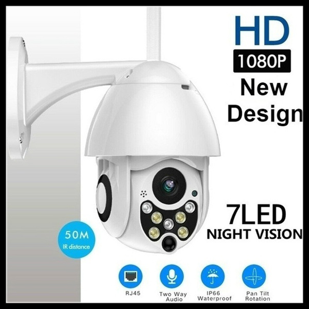 HD 1080p PTZ Outdoor Speed Dome IP Pan Tilt IR WiFi Security Camera Night Vision