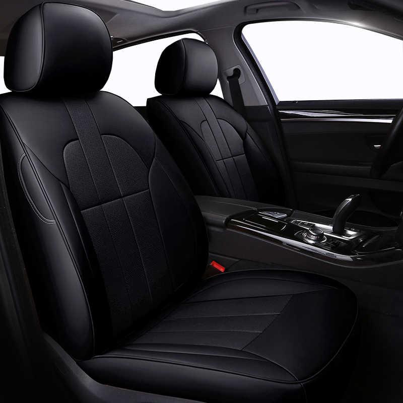 (Frente + trasero) de piel de vaca de cuero especial cubiertas de asiento de coche para Citroen todos los modelos c4 c5 c3 C6 Elysee Xsara C-Quatre estilo Picasso