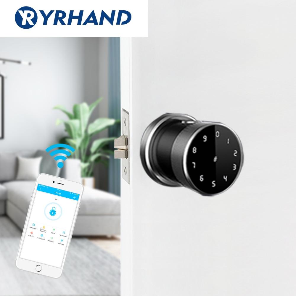 Smart Biometric Fingerprint Door Lock  Digital Wifi Security Lock  Keyless Intelligent Wateproof Unlock Locked Lock For Outdoor