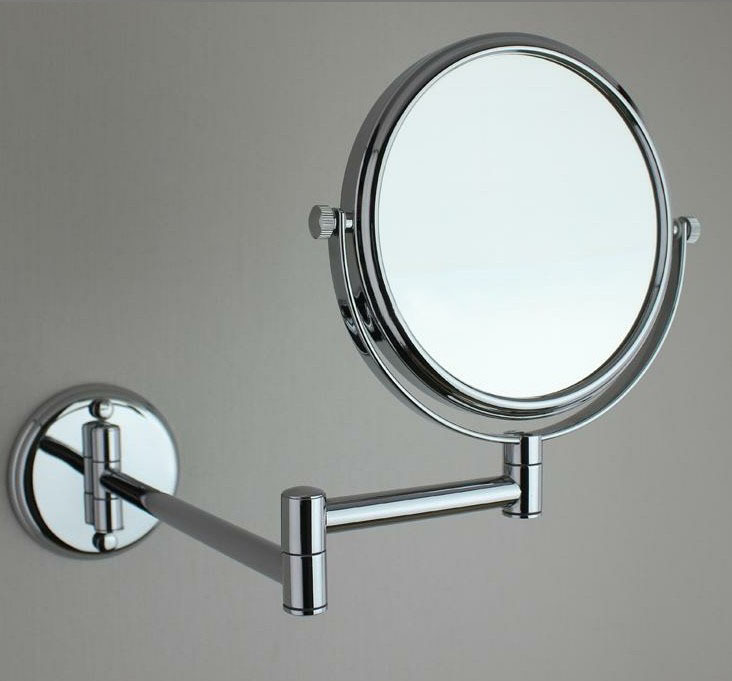 extending bathroom mirror 6 quot side bathroom folding brass shave makeup mirror 12808