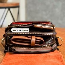 e22a52e34ee13 ... Quality Original Leather Male Casual Shoulder Messenger bag Cowhide  Fashion Cross-body Bag 8″ ...