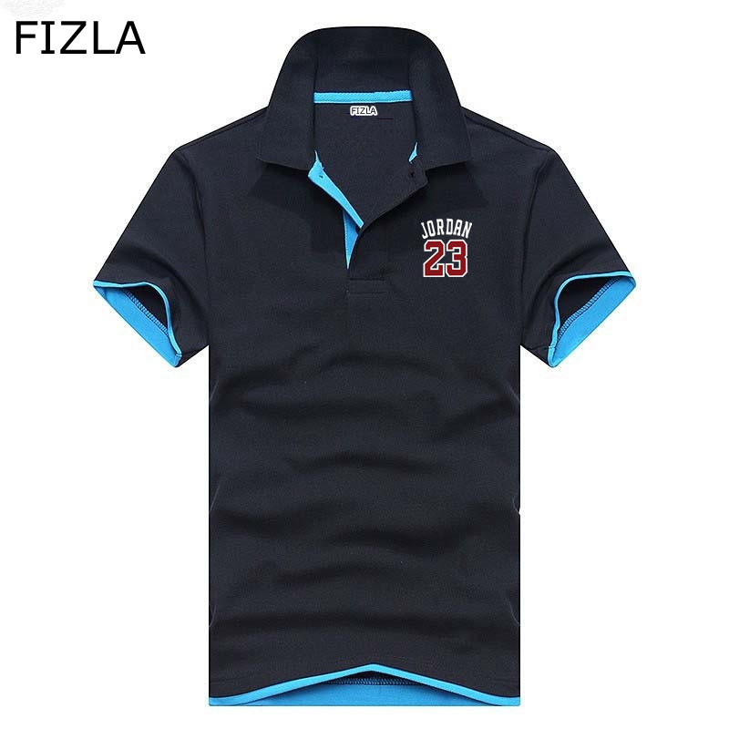 Polo   Shirts Summer 16 Solid Color Choose Short Sleeve Men Jordan 23 Brand Men's   Polo   Shirt Short Sleeve Casual Male Shirt Mens