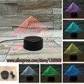 Luxo frete grátis 3D Pirâmide USB Led night light 7 cores mudar christma touch kid sala quarto lâmpada de mesa dom mesa luz