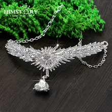 Luxurious Teardrop Silver Crystal Bridal Frontlet Wedding Hair Accessories Jewelry Free Shipping