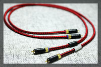 pair Copper Colour Penny 5N OCC HiF interconnect cable with RCA jack connector