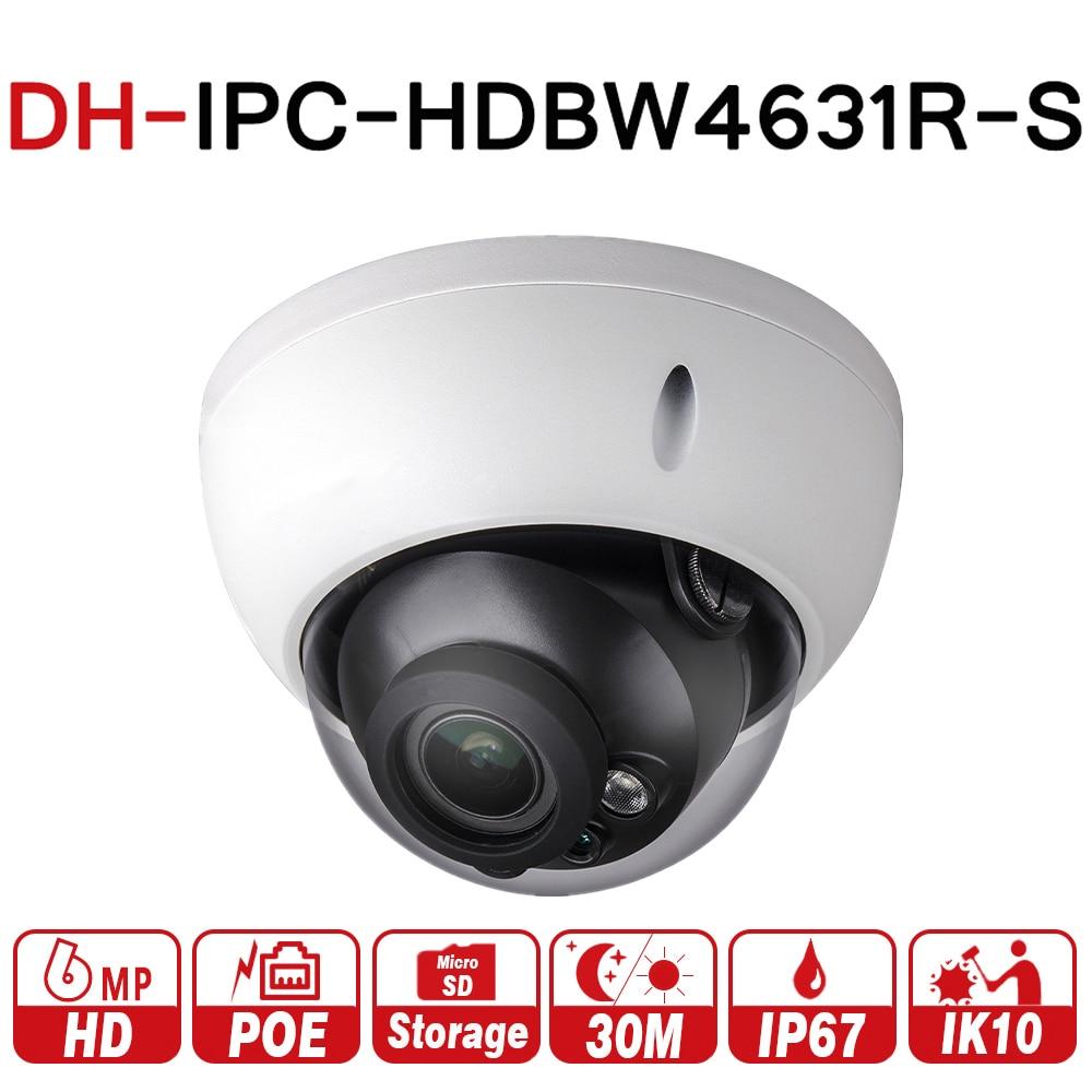 DH POE Camera IPC-HDBW4631R-S 4MP IP Camera Upgrade From IPC-HDBW4421R Support IK10 IP67 Waterproof With POE SD Card Slot original dahua 4mp ipc hdbw4421r as ip network camera support poe