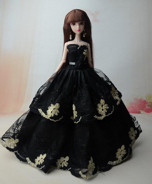 Fiore di Pizzo nero Vestito Da Partito Abito Da Sera Gonna Abbigliamento  Outfit Accessori Per Xinyi b7dbf1858a9
