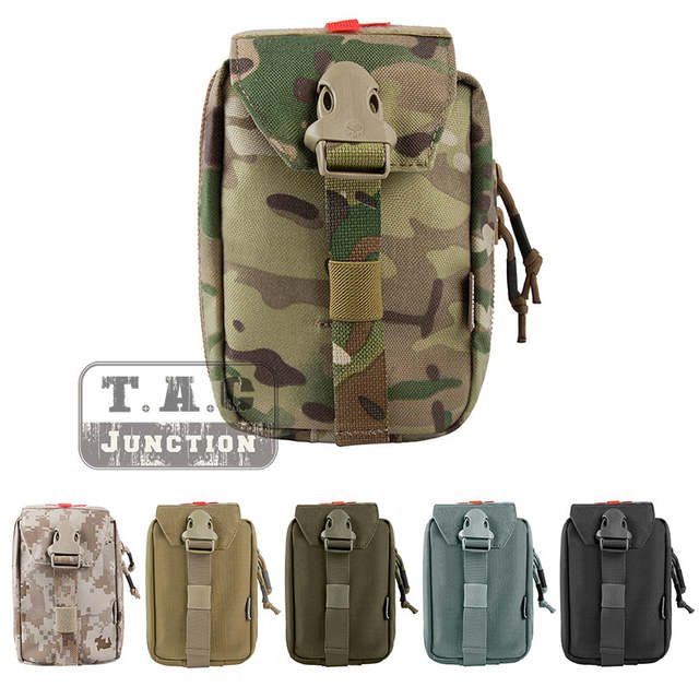 Emerson Tactical MOLLE First Aid Kit Pouch EmersonGear Medical Carrier  Medic Rip-Away EMT IFAK Survival Bag W/ Zipper Multicam