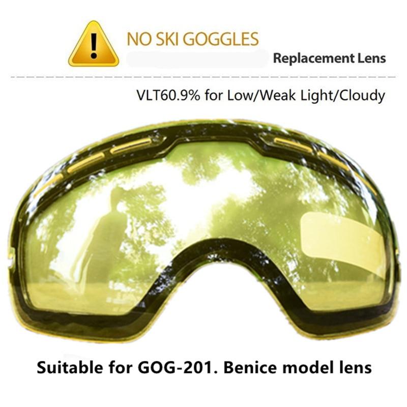 Esporte marca profissão snowboard óculos de lente dupla grande esférico óculos de esqui óculos de visão noturna lente de esqui SNOW-3100