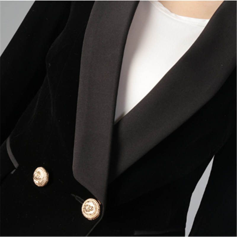 Spring Blazer Women Slim Fit Formal Jacket Office Work One Button Long Sleeve Solid Color Blazers Jacket Clothes For Women A4018