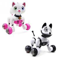 Voice Recognition Smart Robot Dog and Cat Toy Electric Interactive Toy Dance Walk Early Education Toy Kids Gift Montessori Toys