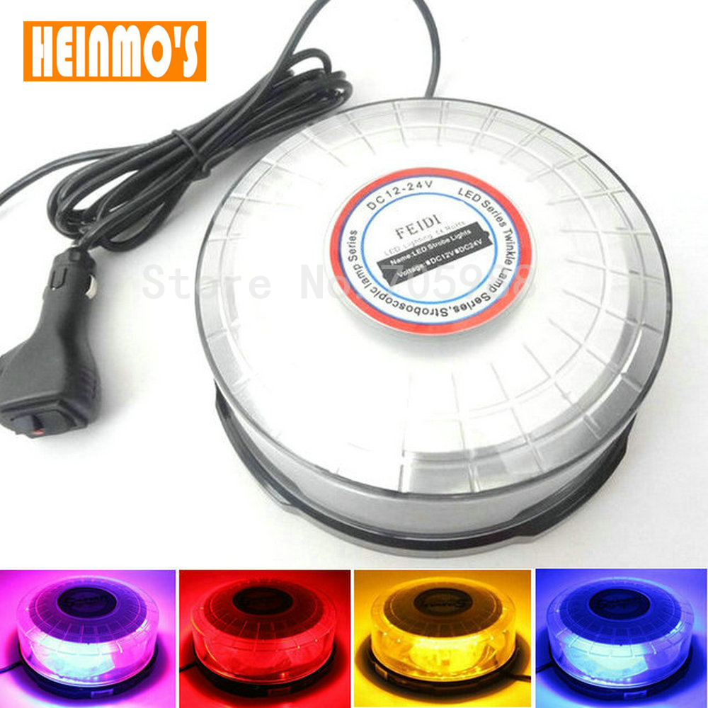 High power DC12V LED Waterproof car Vehicle Magnetic Mounted Police Strobe Warning light Flashing Beacon Emergency light lamp