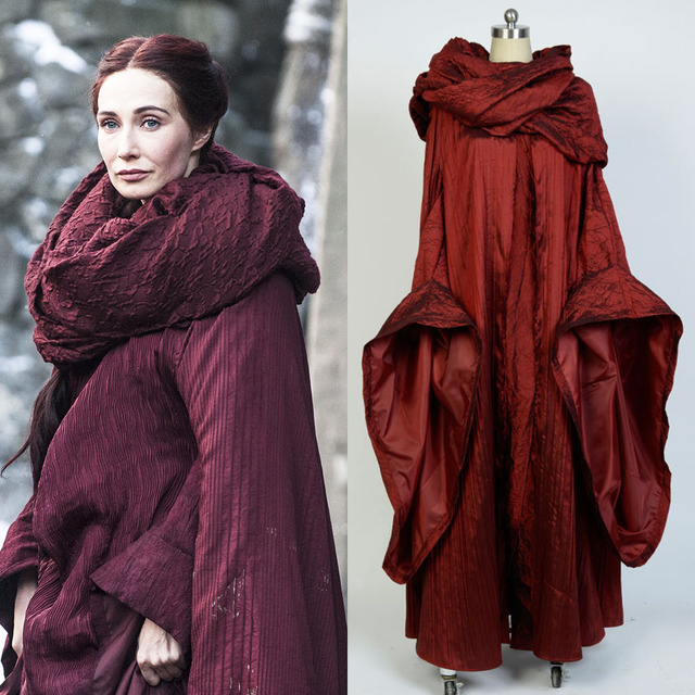 GoT Game of Thrones Cosplay Costume The Red Woman Melisandre Cloak ...
