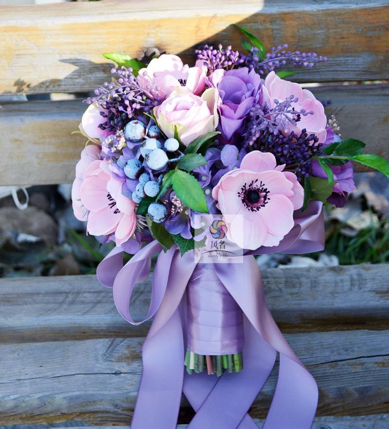 ⑥Simulación hecha a mano flor nupcial suministros de la boda ramo ...