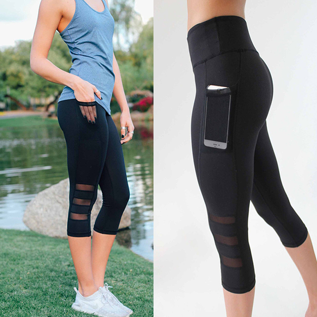 SEXY MESH WOMEN LEGGINGS WITH POCKETS