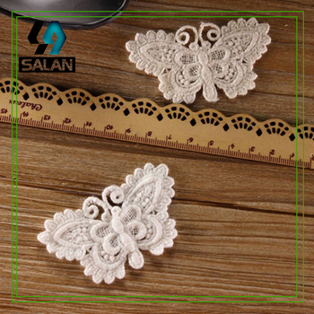 New spot diy water lace embroidery cotton large butterfly cotton cloth paste lace clothing accessories