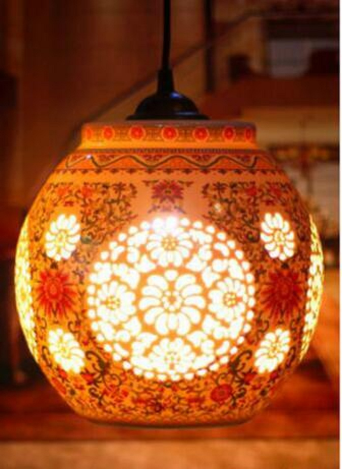 Chinese Style LED E27 AC 90-260V Decor Pendant Light For Home Big White And Pink Ceramic Pendant Lamp chinese style retro e27 base iron ceiling plate ceramic pendant light for home decor wedding gift