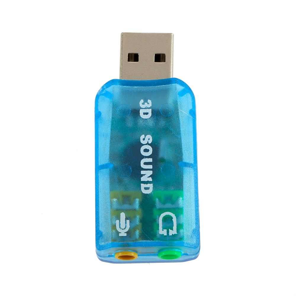 1 chiếc 3D Card Âm Thanh USB 1.1 cho Mic/Loa Adapter Âm Thanh Vòm 7.1 CH cho Laptop Notebook Cao chất lượng
