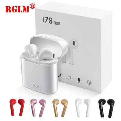 RGLM i7s TWS мини цветные Рисованные Bluetooth Беспроводные наушники с зарядной коробкой спортивные гарнитуры для всех смарт-мобильных