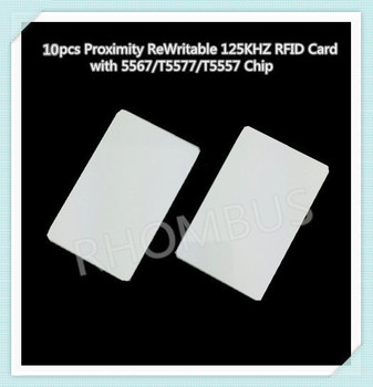10pcs/lot Proximity ReWritable 125KHZ RFID Card with 5567/T5577/T5557 Chip image