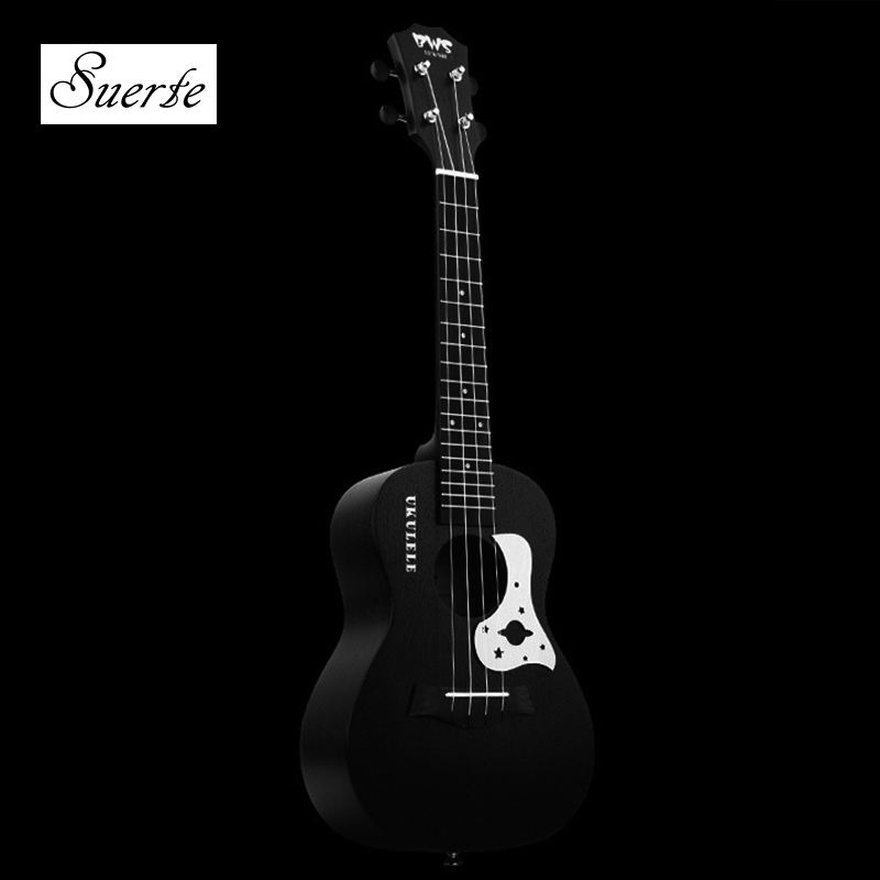 SUERTE 23 Inch Ukulele Mahogany Guitare Ukulele 4 Strings Guitar Music Instrument Electric Ukulele Rosewood Hawaiian 23 Black