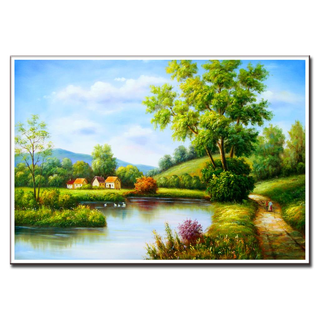 1 unids naturaleza paisaje lienzo pintura 2016 primavera rural ...