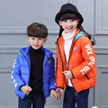 Winter Boy Girls Down Jacket Coat Short 2016 Fashion Hooded Spider-man Jackets Girls 5 Color For 3-8year