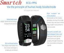 Smartch Смарт Браслет Спорт сердечного ритма Смарт Браслет Приборы для измерения артериального давления Фитнес трекер умный Браслет Смарт часы для IOS Android