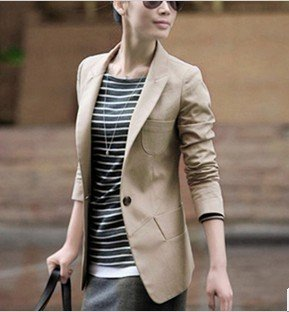 Free shopping!Spring new 2013 new women's Korean version of cultivating a long section of the small suit women suit coat