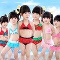 Princesa encantadora de dibujos animados chicas en bikini bikini transpirable niños ropa de baño niñas traje de baño trajes de baño para niños envío gratis