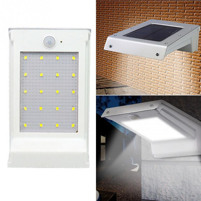 Led Solar Light Motion Sensor Outdoor Wall Lamp Path