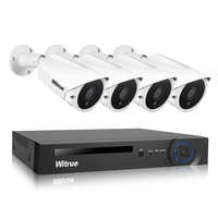 Witrue 8CH 1080P AHD DVR Surveillance System 4pcs 2 0MP Surveillance Camera Sony IMX323 Outdoor Waterproof