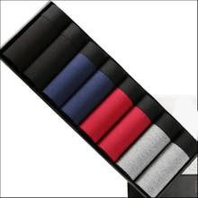 8 pçs/lote cor sólida flexível boxer, cor pura masculino calças conjuntos de homens cueca sexy de verão colorida modal homem curto