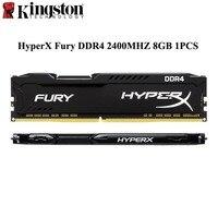 Kingston Hyperx Black Fury Memoria Arbeitsspeicher Ram DDR4 8GB 2400MHz CL16 DIMM Rams Droshipping For Desktop PC Gaming 1 Pcs