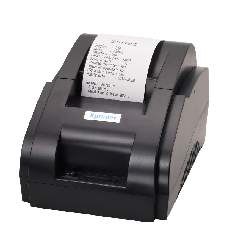 58mm thermal small ticket printer Mini thermal 58mm restaurant bill printer thermal USB interface 58mm pos