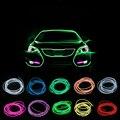 2 m luz neon el wire rope tubo dance party decor luz neon lâmpada led flexível à prova d' água led strip com controlador