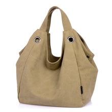 Fashion Messenger Bag Women Shoulder Bags Vintage Canvas Hobo Crossbody bags Female Tote Large Shopping Satchel Handbags
