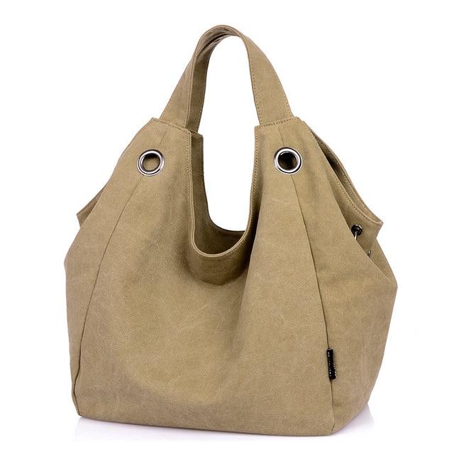 8e21651939f3 Fashion Messenger Bag Women Shoulder Bags Vintage Canvas Hobo Crossbody bags  Female Tote Large Shopping Satchel Handbags