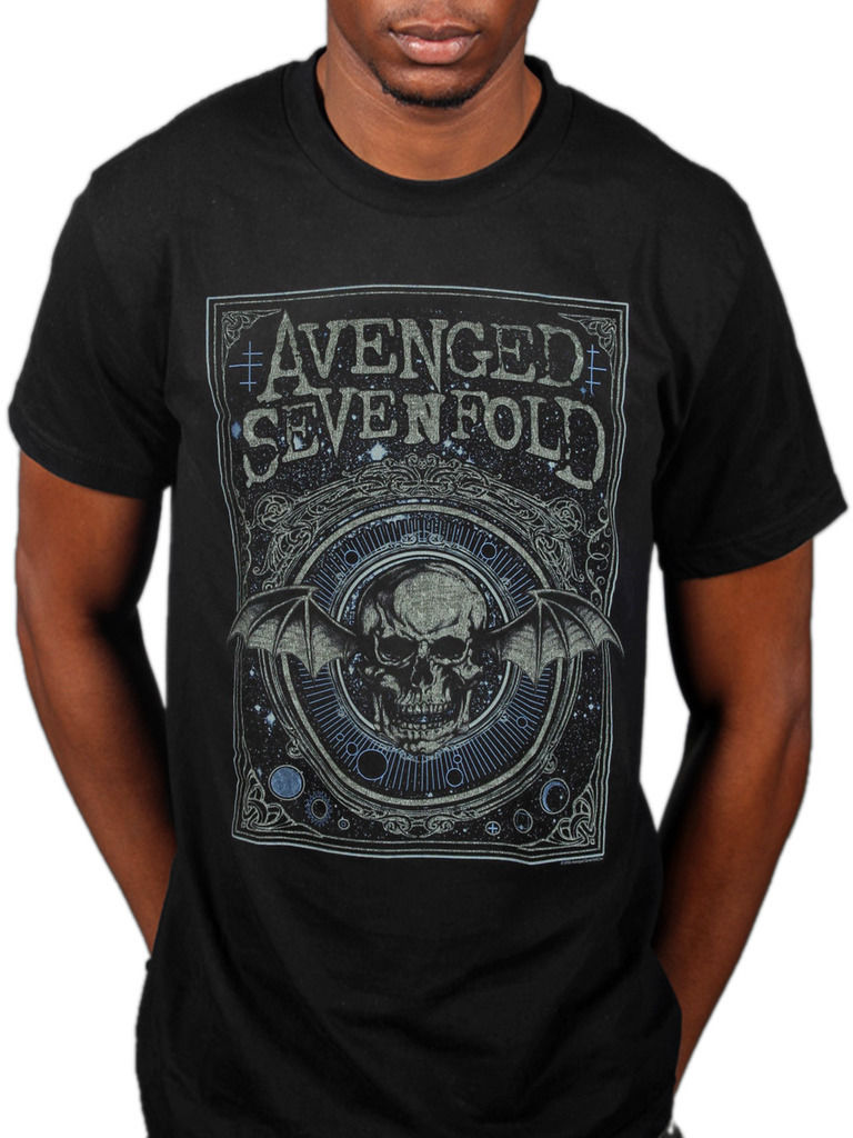 Avenged Sevenfold Ornate Deathbat T-shirt Unisex Seize The Day Band Mer