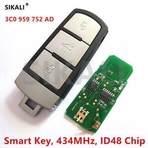 Image 1 - Clé télécommande intelligente complète avec puce ID48, 434MHz, pour voiture VW/VolksWagen, 3C0959752AD/HLO3C0959752AD, PASSAT/CC/MAGOTAN