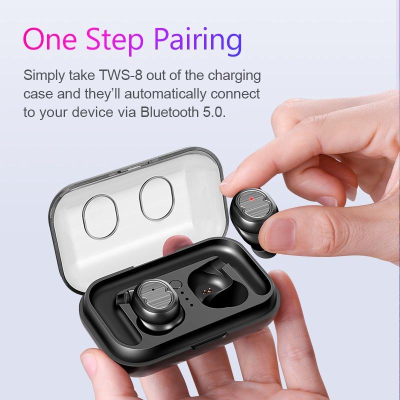 LIMINGLEI TWS 5 0 Wireless Headphones Bluetooth Earphones Sports Earbuds Stereo Headset Handsfree Auriculares For Phones Xiaomi in Bluetooth Earphones Headphones from Consumer Electronics