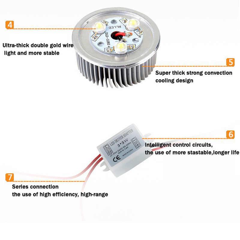 Оптовая продажа 9 Вт потолочный светильник Epistar светодио дный потолочный светильник Встраиваемые пятно света AC85-265v Для Домашнее освещение светодио дный лампочки