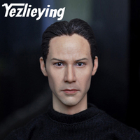 1/6 Head Sculpture Keanu Reeves Delicate Men's Head Model 12 Inches Action Figures Accessories Modeling Gifts