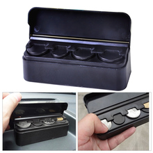 1pc Car Universal Black Coins Holder Organizer Loose Change Storage Box for Hyundai Toyota SUV MPV Truck Money Wallet Piggy Bank