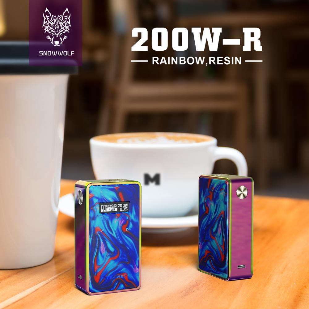 2pcs/lot Snowwolf 200W Mod Box Powered by 18650 Battery Box Mod Electronic Cigarette Fit for 510 Thread Atomzizer Vaporizer Tank 2pcs new original lg hg2 18650 battery 3000 mah 18650 battery 3 6 v discharge 20a dedicated electronic cigarette battery power