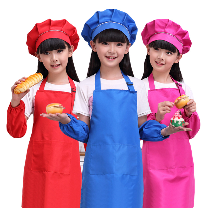 Colorful Cleaning Service Logo: Fashion Kid's Child Cooking Painting Baking Printed Apron