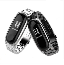 YIFALIAN Strap for Xiaomi Mi Band 2 Screwless Bracelet MiBand Smart Replace  For metal bands