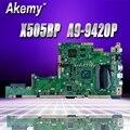 X505BP материнская плата для For Asus K505B A580B X505BP материнская плата для ноутбука X505BP материнская плата Тест OK A9-9420P CPU 8G RAM